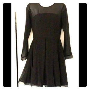 BbDakota lined sheer black dress